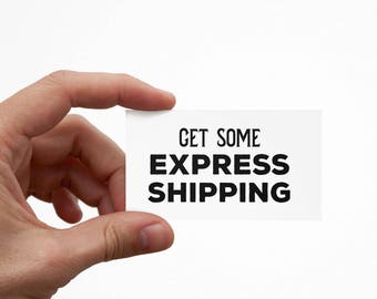 3-Day Express Shipping for Totes, Mugs, and Prints