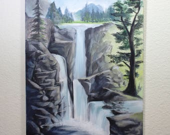 Waterfalls Original Canvas Painting