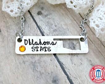 Oklahoma State University | OSU | College Jewelry | Go Pokes | Oklahoma Cowboys | College Necklace | College Football | Collegiate | Alumni
