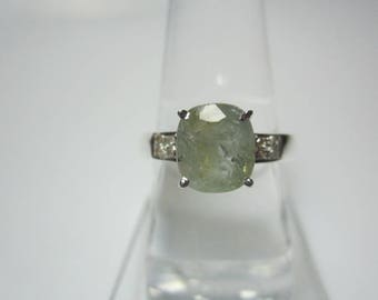 Natural Sapphire and Diamond Ring, Sapphire Ring, Diamond Ring, Multi color Sapphire Ring, Cushion Ring,WOOW