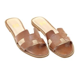 Tan leather sandal H