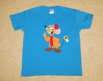 JaQ MouSe from CiNDeReLLa Custom Boutique Hand Applique T SHIRT Tee HoLiDaY Summer Ring