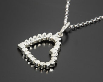 Heart pendant, Heart necklace, Romantic necklace, Romantic pendant, Love necklace, Love pendant, Dainty pendant, Necklace for her