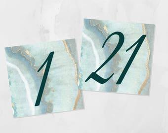 PRINTABLE Agate Slice Modern Table Numbers