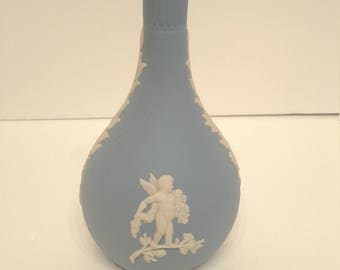 Wedgewood Blue Jasperware Bud Vase