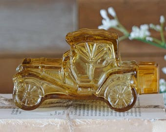 Vintage Avon bottle - PACKARD ROADSTER - Avon collectible bottles - Perfume bottle - Yellow - Classic car