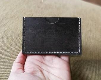 Distressed Leather, Minimalist Wallet, Brown Leather Card Wallet, Slim Leather Wallet, Handcrafted, Leather Card Holder, Leather Card Case,