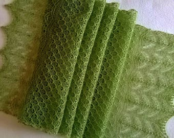 green lace scarf / lace scarf / green scarf / summer scarf / wedding scarf