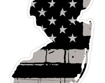 New Jersey State (N31) Distressed Flag Vinyl Decal Sticker Car/Truck Laptop/Netbook Window