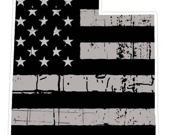 Utah State (N44) Distressed Flag Vinyl Decal Sticker Car/Truck Laptop/Netbook Window