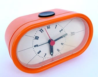 Orange Insa clock made in Yugoslavia