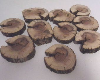 Walnut slices of wood