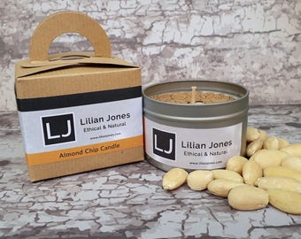 Scented Soy Candle Tin - Almond Chip