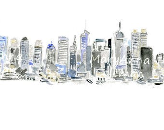 NYC Black & White Skyline