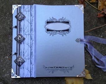 Book of memories, silver photo album, wedding guestbook