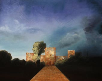 Darko Topalski - Disclosure of the Hidden - Original painting surreal fantasy artwork