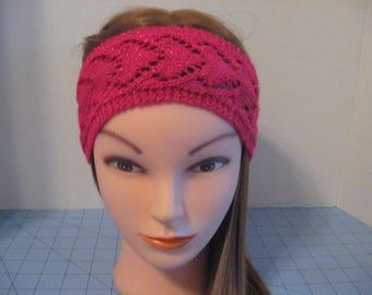 Handmade Valentine Lace Sparkle Heart Headband EarWarmer