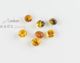 Baltic Amber Beads, Natural Amber, Amber Beads, Jewelry Making Beads, Green Beads, Teething Beads, Baroque style, 7 pieces