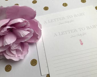 Baby Shower- A Letter to Baby Cards