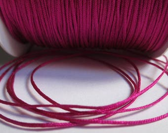 5 m fuchsia braided 0.8 mm nylon thread
