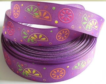 1 tape purple printed fruit 25 mm