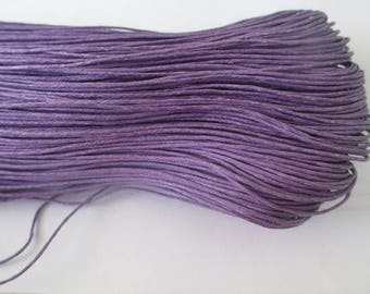 10 meters of waxed cotton thread purple 0.7 mm