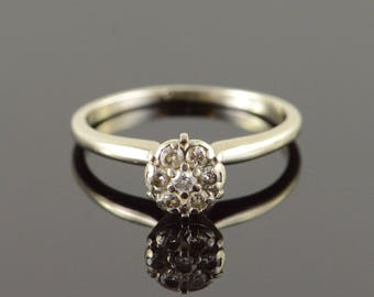 10k 0.25 CTW Diamond Cluster Ring Gold