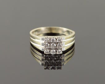 14k 0.30 CTW Diamond Cluster Vintage Ring Gold