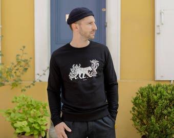 Sweatshirt cotton organic Panther