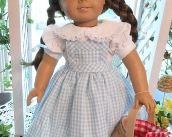 """Wizard of Oz Dorothy 18"""" Doll Costume to fit your 18"""" American Girl Doll"""
