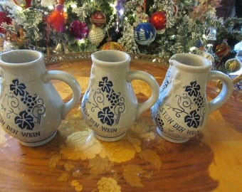 HAND CRAFTED SALT Glaze Pitchers