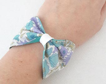 node in Liberty Poppy and Daisy Turquoise Cuff Bracelet
