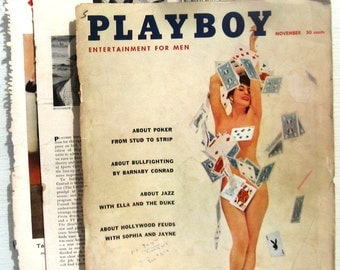 PLAYBOY November 1957 Not very good condition! (Read & see photos) FREE SHIPPING