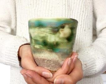 Earthy and organic handmade mug