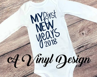 My First New Years 2018 Baby Bodysuit