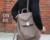 Simple Day Casual Backpack - DIY Kit with Sewing Pattern & Tutorials (all the materials included)