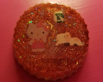 Hello Kitty/ Cow Magnet