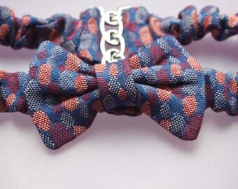 elastic waistband Zep has blue polka dots
