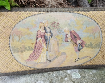 French Vintage Tapestry Panel / French Tapestry / French Brocante / Traditional tapestry / Soft coloured tapestry / Woven Panel /