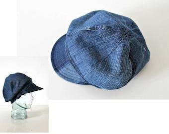 SOLD OUT Denim hat Unisex hat Newsboy cap Baker Boy Cap Sun hat Edwardian Peaky Blinder Made in Ireland Bohemian Unique Repurposed Denim hat