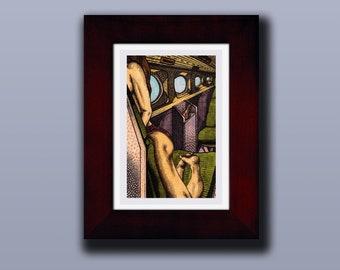"""Alex"" Varied Edition Print #4/4 [4x6"" in 7x9"" frame]"