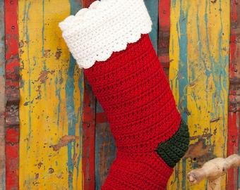 Best Selling Crochet Christmas Stocking / Traditional Christmas Stocking / B1G1 for first 50 Customers