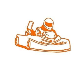 Go Kart Racing Decal-Dirt Kart-Vinyl Decal