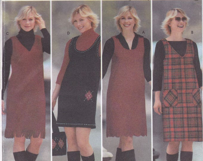 FREE US SHIP 5850 Sewing Pattern Size 4 6 8 10 Bust 29.5 30.5 31.5 32.5 Pullover Jumper Matching Purse Bag Factory Folded