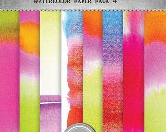 ON SALE sale Watercolor digital paper, jpg, 12x12 in, printable