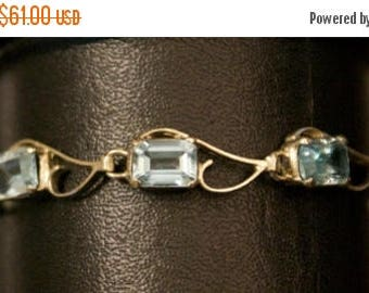 ON SALE Compelling Blue Topaz Silver Bracelet