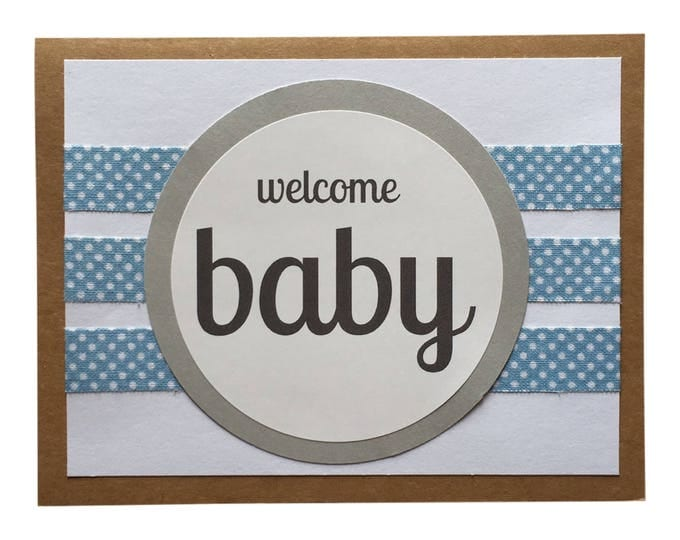 Welcome Baby Boy - Blank Greeting Card