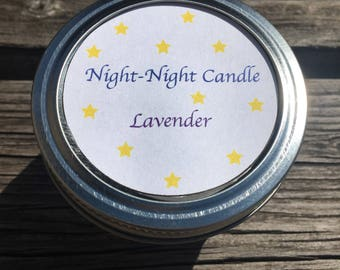 Night-Night Candle: Lavender Scented