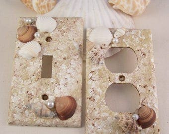 Switchplate Covers Sea Shell Mermaid Light Switch Plate