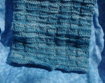 hand knit cowl / cowl scarf / hand knit scarf